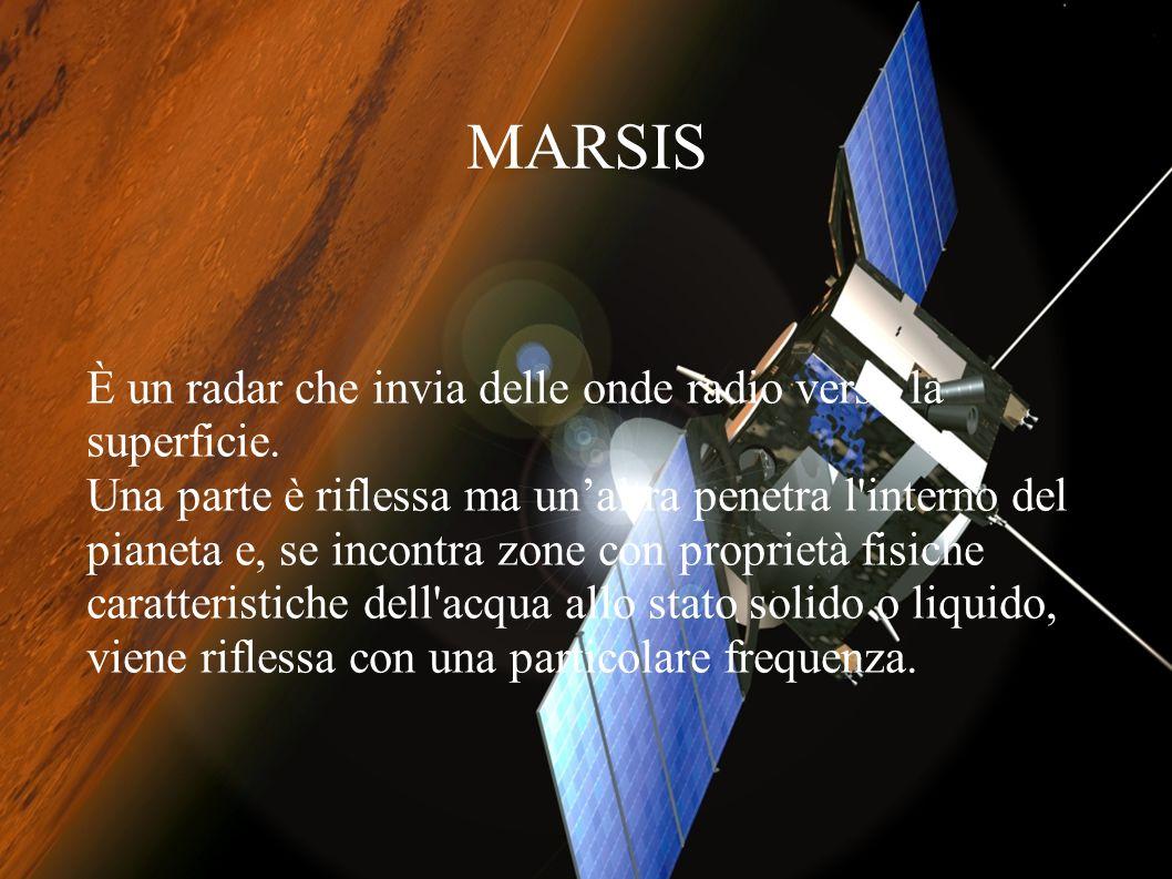 IL contributo italiano per la sonda Mars Express Il centro ricerche dell'università La Sapienza di Roma ha ricevuto la collaborazione di Alenia spazio e dell'ASI.