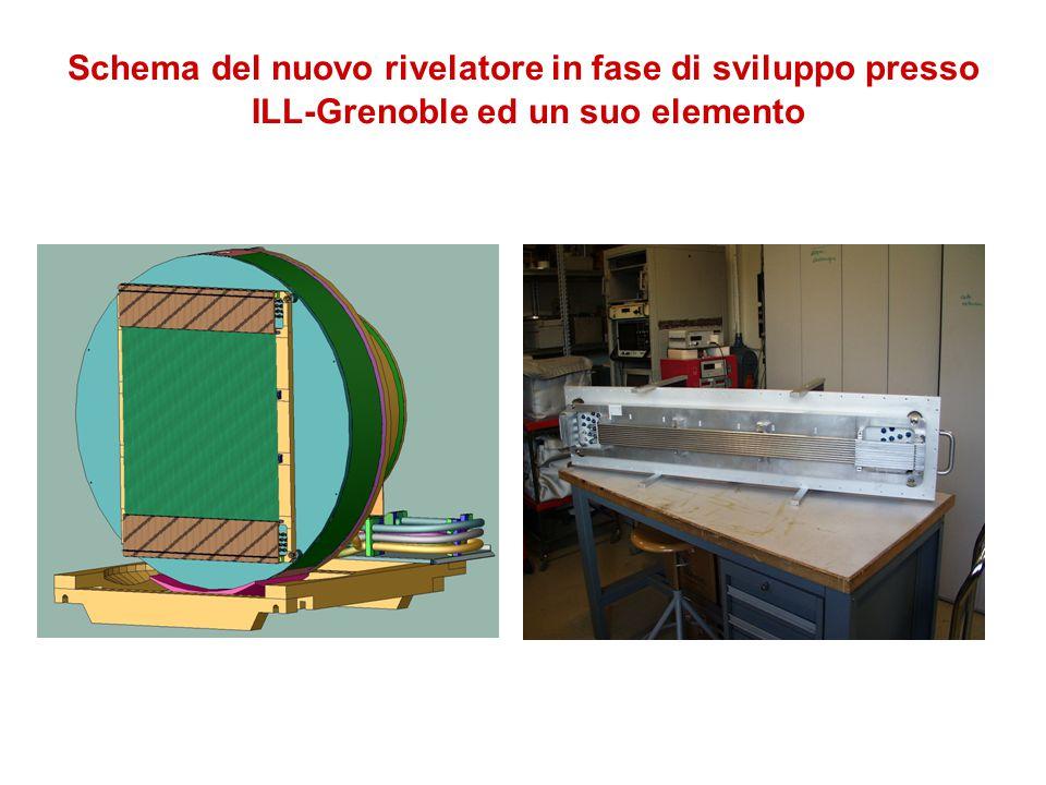 Schema del nuovo rivelatore in fase di sviluppo presso ILL-Grenoble ed un suo elemento