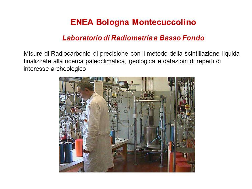ENEA Bologna Montecuccolino Laboratorio di Radiometria a Basso Fondo Misure di Radiocarbonio di precisione con il metodo della scintillazione liquida finalizzate alla ricerca paleoclimatica, geologica e datazioni di reperti di interesse archeologico