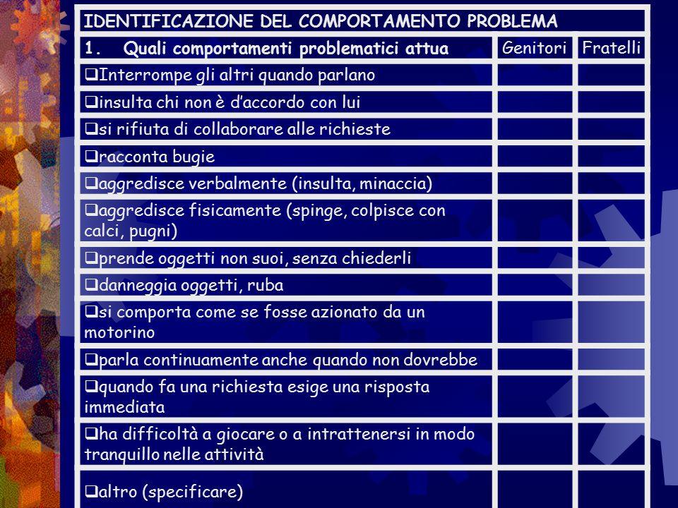 Misurazione di base Valutazione comportamenti dei figli  questionari  osservazioni dirette Autovalutazione competenze genitoriali  questionari Raff