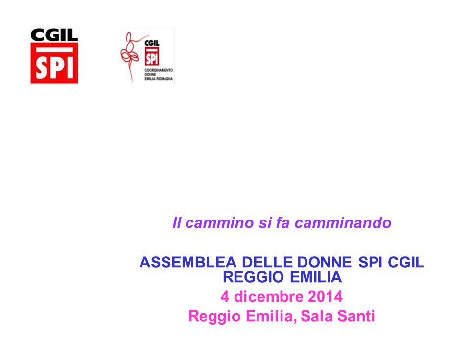 I dati dei Coordinamenti Donne a Congresso SPI Cgil RE - 2014 (dal Doc.