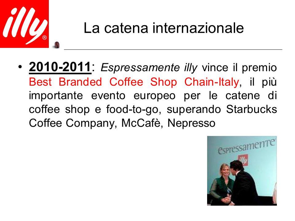 La catena internazionale 2010-2011: Espressamente illy vince il premio Best Branded Coffee Shop Chain-Italy, il più importante evento europeo per le c