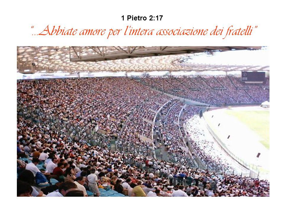 """1 Pietro 2:17 """"…Abbiate amore per l'intera associazione dei fratelli"""""""