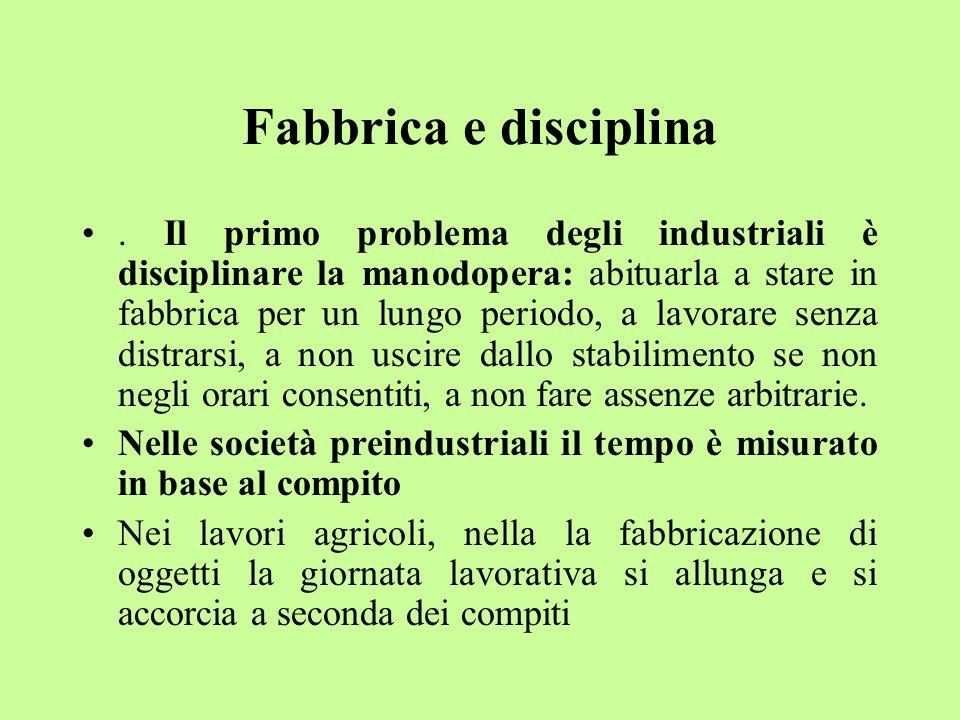 Fabbrica e disciplina.