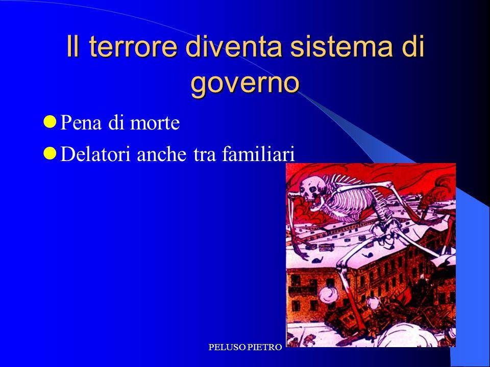PELUSO PIETRO Il terrore diventa sistema di governo Pena di morte Delatori anche tra familiari