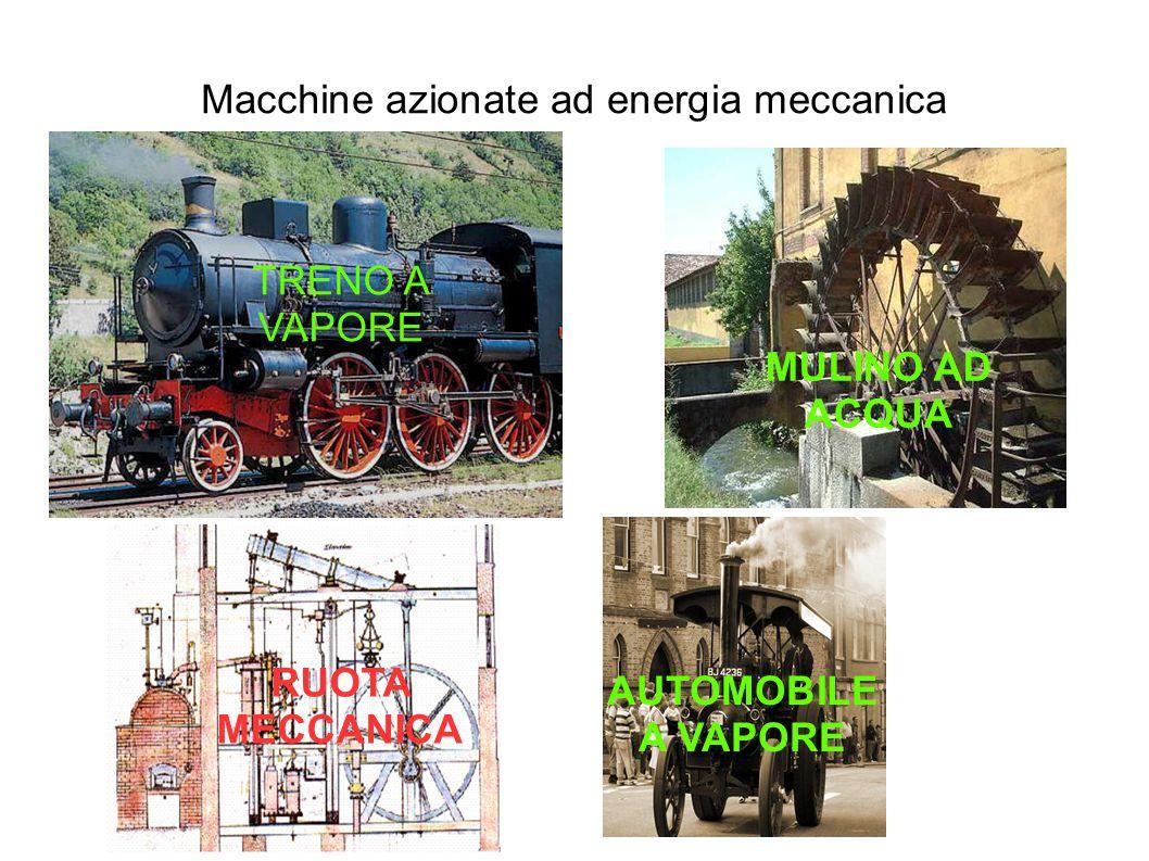 Macchine azionate ad energia meccanica TRENO A VAPORE MULINO AD ACQUA RUOTA MECCANICA AUTOMOBILE A VAPORE