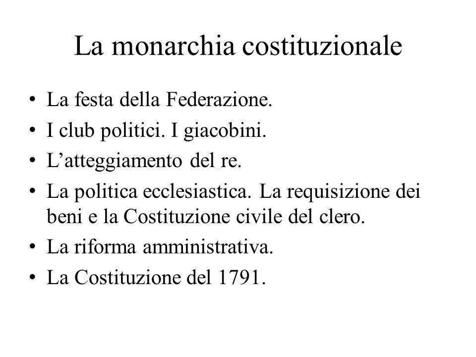 La monarchia costituzionale La festa della Federazione.