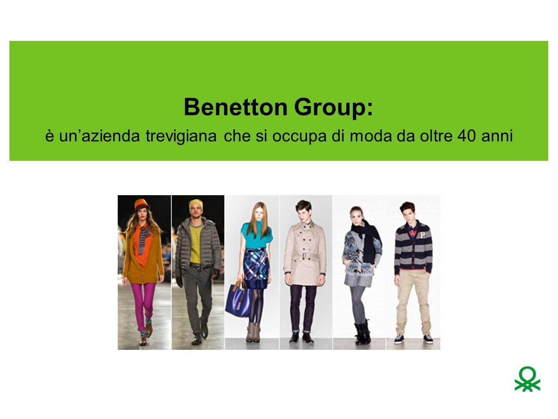 L azienda Benetton è stata fondata nel 1965 a Ponzano Veneto (Treviso) da Luciano, Gilberto, Giuliana e Carlo Benetton.1965Ponzano VenetoTreviso Tutto iniziò grazie a un'intuizione imprenditoriale: confezionare un maglione di lana in 36 colori diversi; 1972 - Estensione dell'offerta: dalla maglieria alla jeanseria 1974 - Benetton rileva il marchio Sisley L'abbigliamento bambino viene inserito nel brand, con la catena di negozi monomarca 012 Luciano Benetton inventa il franchising, negozio di proprietà di altri cui affidare il marchio e vendere il prodotto.