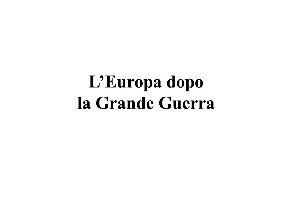 L'Europa dopo la Grande Guerra