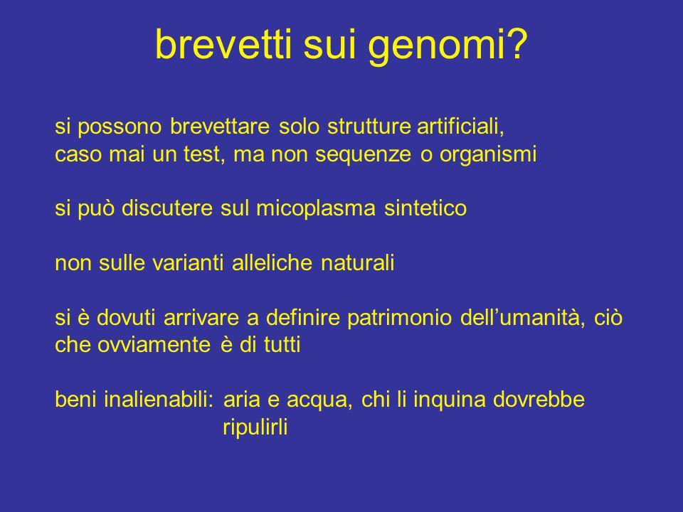brevetti sui genomi.