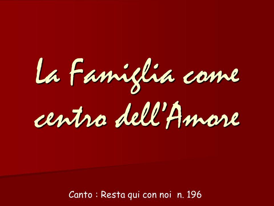 La Famiglia come centro dell'Amore Canto : Resta qui con noi n. 196