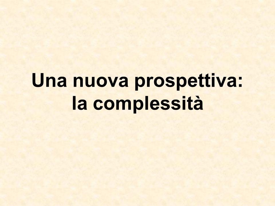 Una nuova prospettiva: la complessità