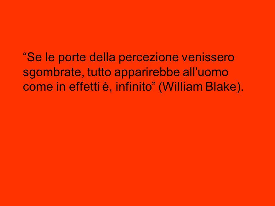 """""""Se le porte della percezione venissero sgombrate, tutto apparirebbe all'uomo come in effetti è, infinito"""" (William Blake)."""