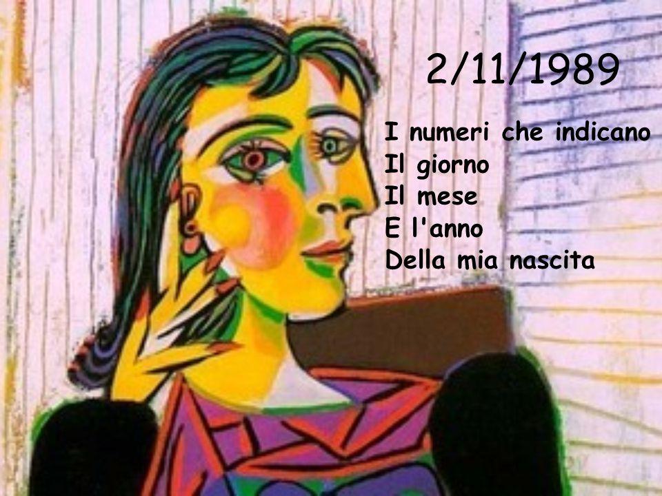 2/11/1989 I numeri che indicano Il giorno Il mese E l'anno Della mia nascita
