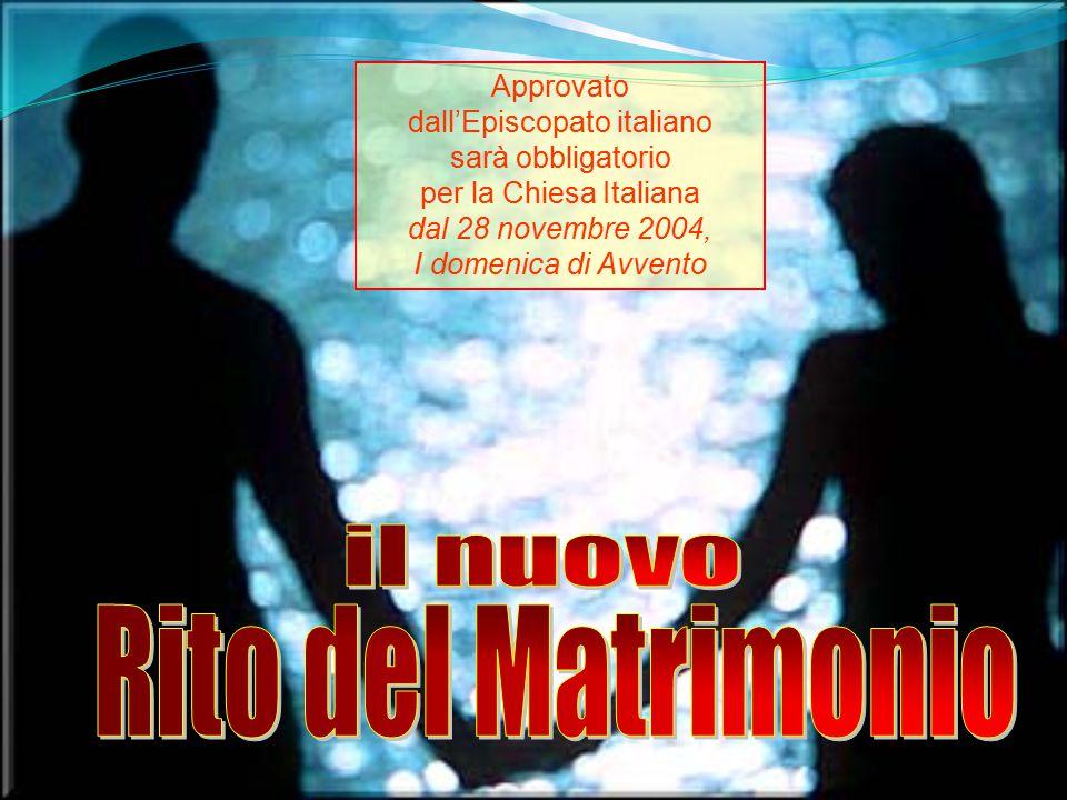 Benedizione degli sposi Il rito prevede anche la possibilità di collocarla dopo lo scambio degli anelli.