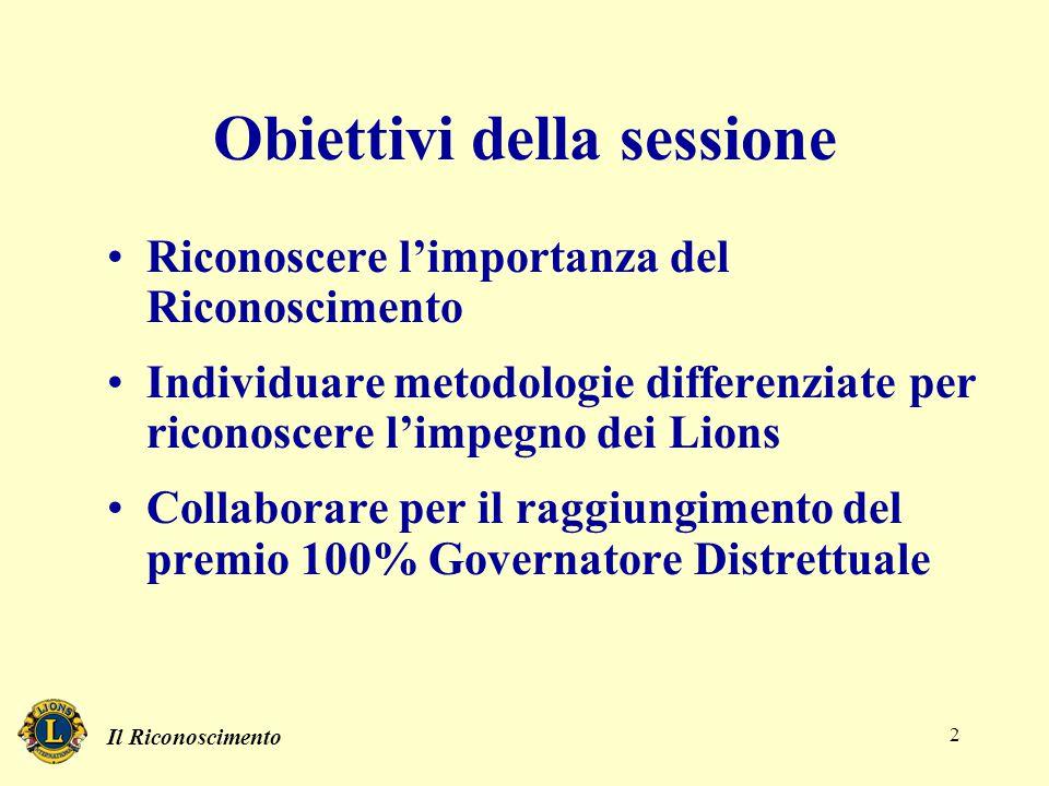 Il Riconoscimento 2 Obiettivi della sessione Riconoscere l'importanza del Riconoscimento Individuare metodologie differenziate per riconoscere l'impeg