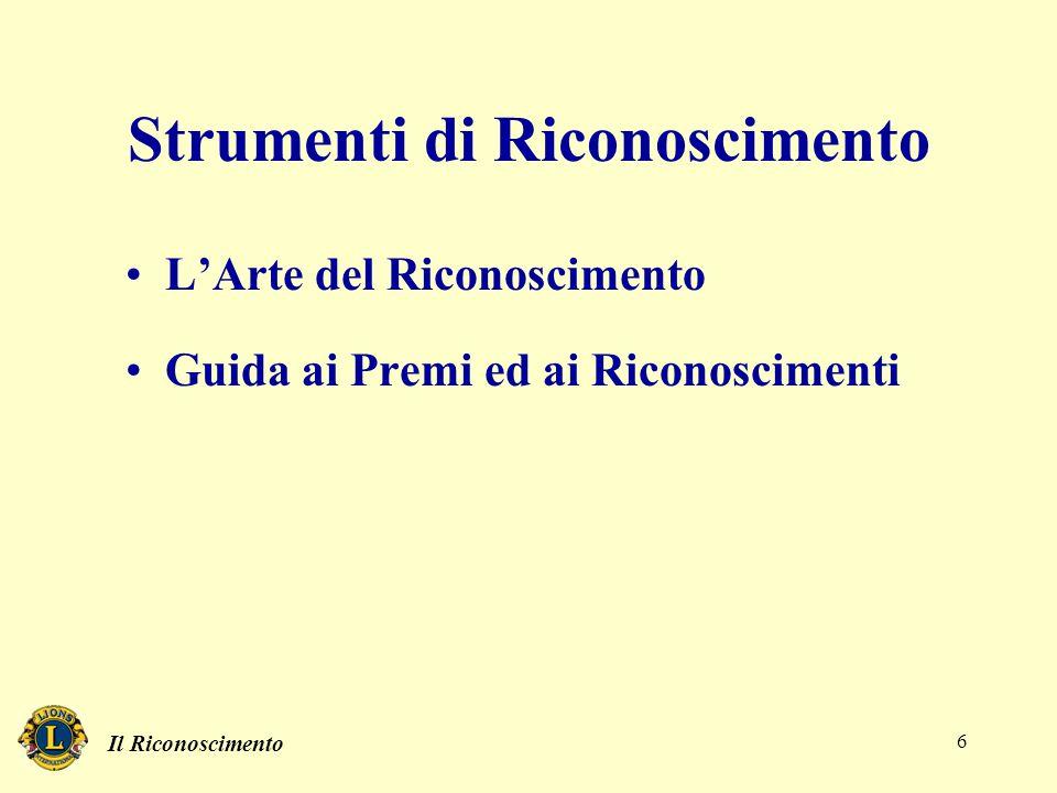 Il Riconoscimento 6 Strumenti di Riconoscimento L'Arte del Riconoscimento Guida ai Premi ed ai Riconoscimenti
