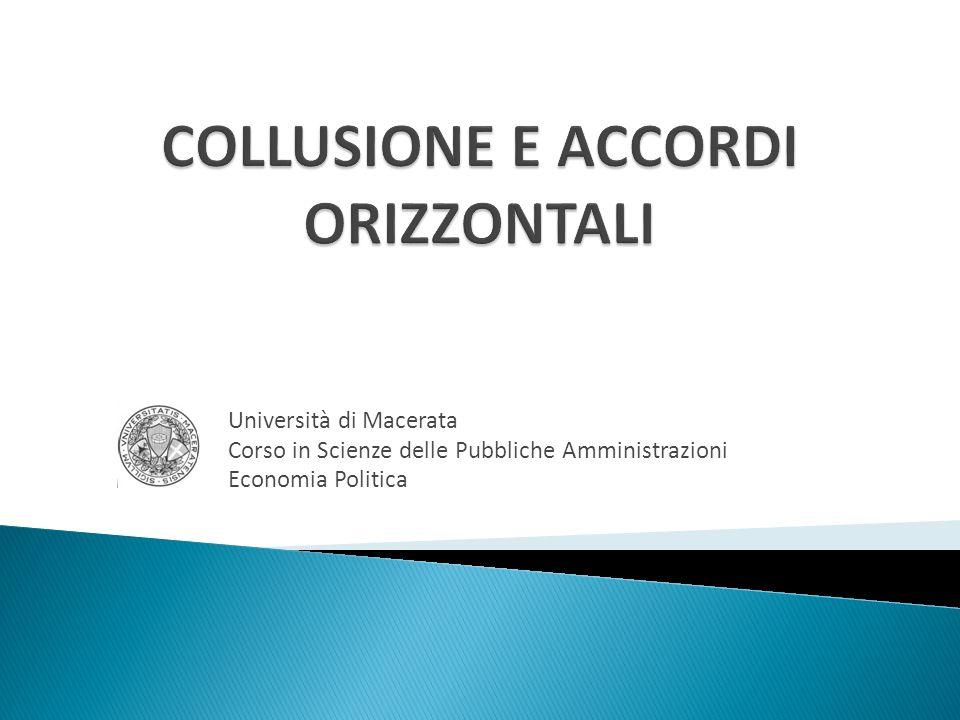 Università di Macerata Corso in Scienze delle Pubbliche Amministrazioni Economia Politica