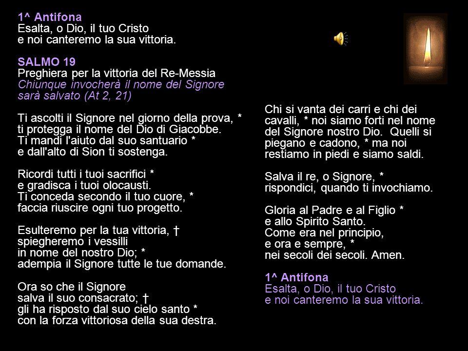 2 DICEMBRE 2014 MARTEDÌ - I SETTIMANA DI AVVENTO VESPRI V.