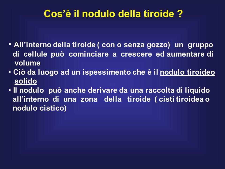 Cos'è il nodulo della tiroide .