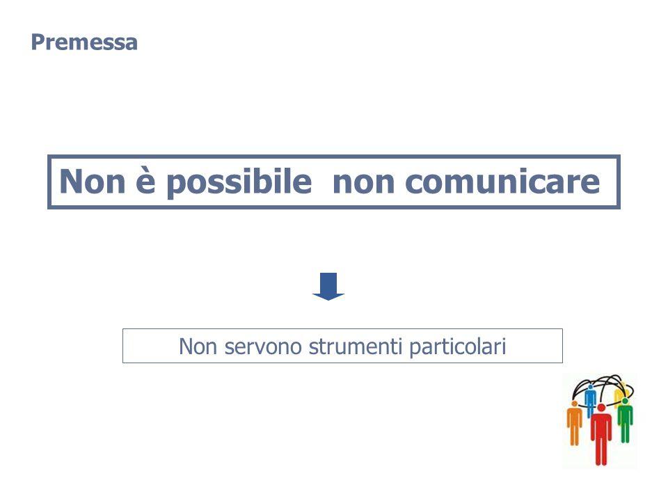 Non è possibile non comunicare Non servono strumenti particolari Premessa