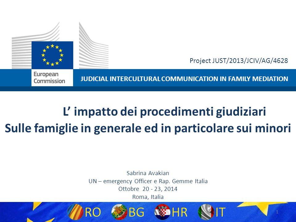 Project JUST/2013/JCIV/AG/4628 12 Il recente decreto n.