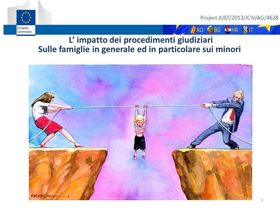 """Project JUST/2013/JCIV/AG/4628 L' impatto dei procedimenti giudiziari Sulle famiglie in generale ed in particolare sui minori """" 3"""
