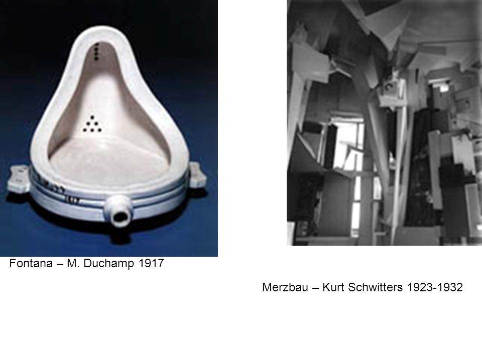 Fontana – M. Duchamp 1917 Merzbau – Kurt Schwitters 1923-1932