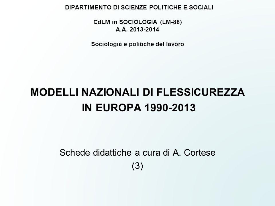 DIPARTIMENTO DI SCIENZE POLITICHE E SOCIALI CdLM in SOCIOLOGIA (LM-88) A.A. 2013-2014 Sociologia e politiche del lavoro MODELLI NAZIONALI DI FLESSICUR