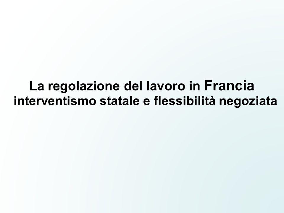 La regolazione del lavoro in Francia interventismo statale e flessibilità negoziata