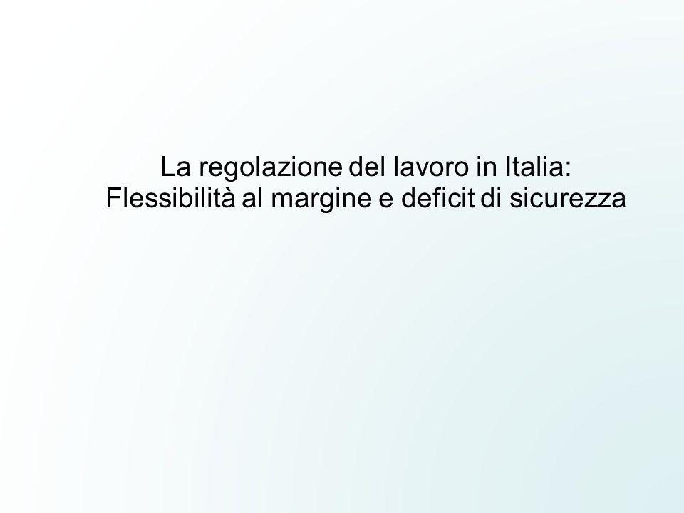 La regolazione del lavoro in Italia: Flessibilità al margine e deficit di sicurezza