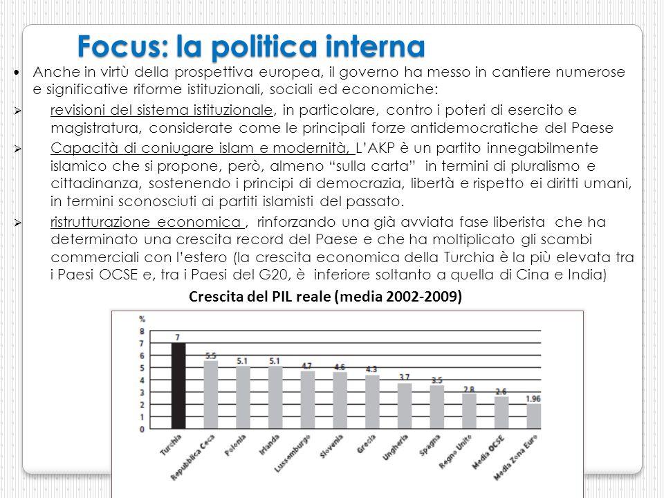 Focus: la politica interna Anche in virtù della prospettiva europea, il governo ha messo in cantiere numerose e significative riforme istituzionali, s