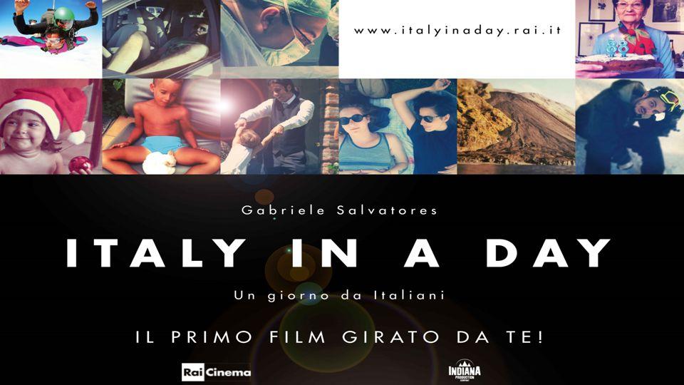 PROGETTO ITALY IN A DAY Rai Cinema e Indiana Production hanno realizzato Italy in a day, il primo film – documentario collettivo girato dagli italiani con la regia affidata a Gabriele Salvatores.