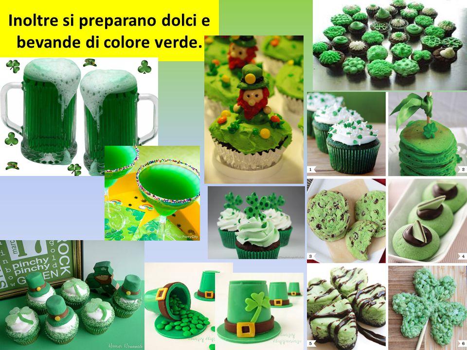 Inoltre si preparano dolci e bevande di colore verde.