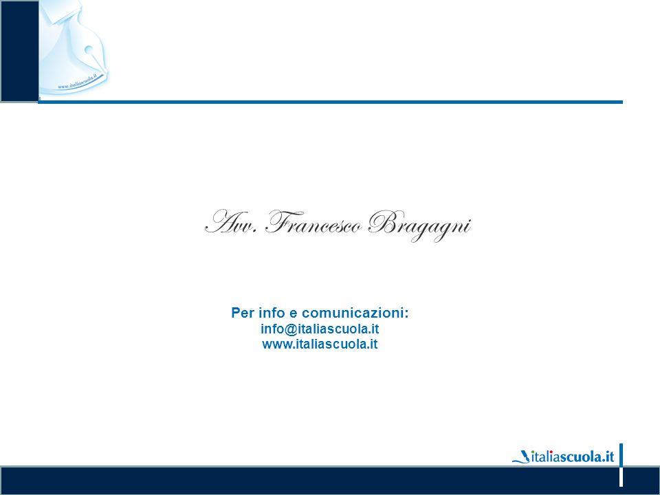 Le procedure di acquisto di beni e servizi attraverso la piattaforma Consip Avv. Francesco Bragagni Per info e comunicazioni: info@italiascuola.it www