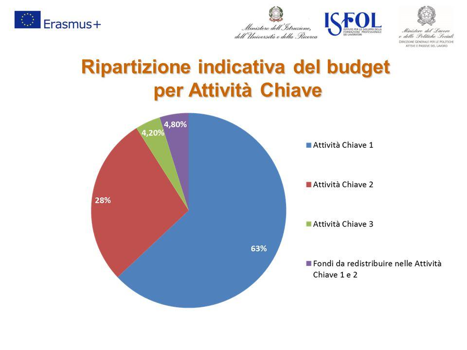 Ripartizione indicativa del budget per Attività Chiave per Attività Chiave
