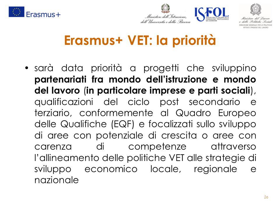 Erasmus+ VET: la priorità sarà data priorità a progetti che sviluppino partenariati fra mondo dell'istruzione e mondo del lavoro ( in particolare impr