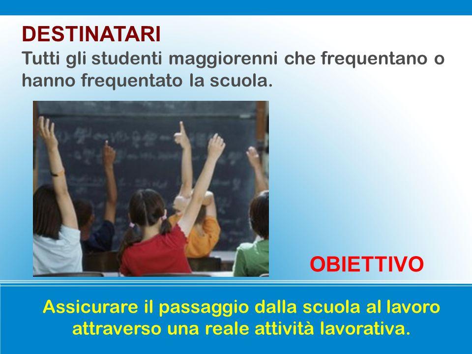 DESTINATARI Tutti gli studenti maggiorenni che frequentano o hanno frequentato la scuola.