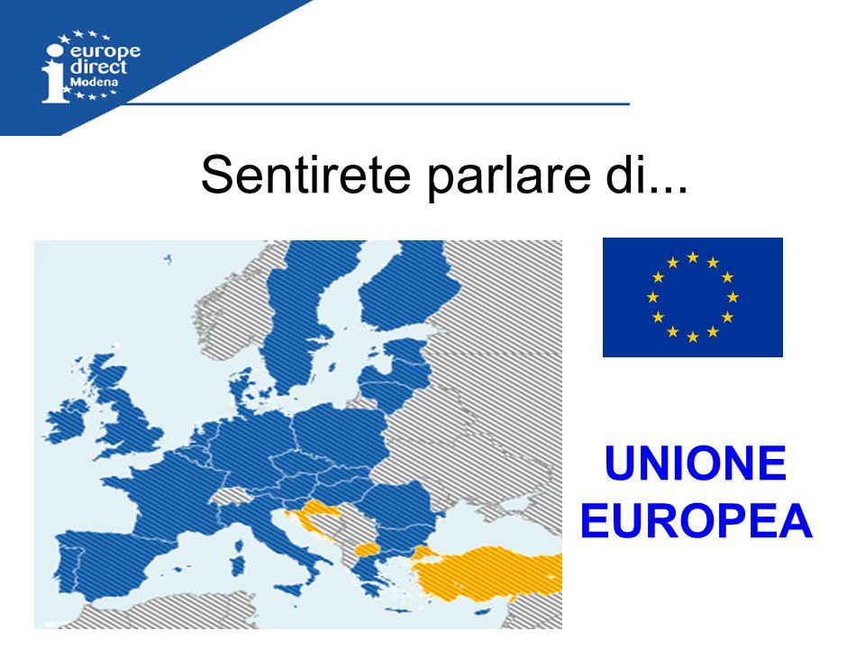Unione europea L'unione europea è il risultato di un lungo processo d'integrazione iniziato alla fine della seconda guerra mondiale …..