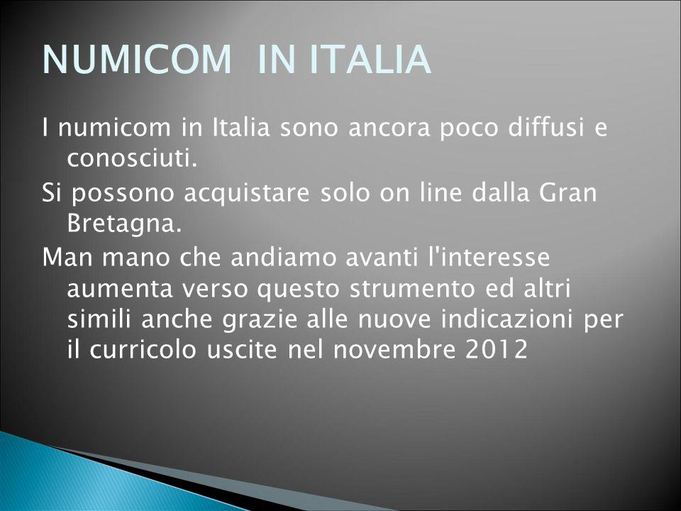 NUMICOM IN ITALIA I numicom in Italia sono ancora poco diffusi e conosciuti. Si possono acquistare solo on line dalla Gran Bretagna. Man mano che andi