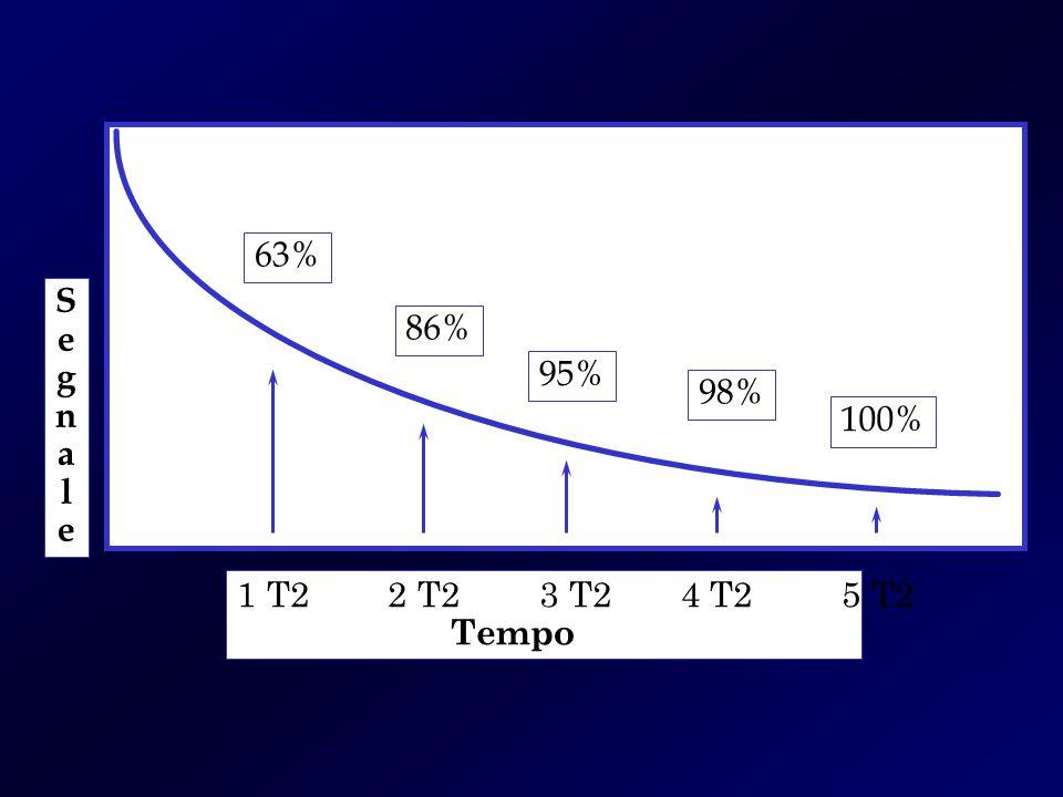 SegnaleSegnale 1 T2 2 T2 3 T2 4 T2 5 T2 Tempo 63% 86% 95% 98% 100%