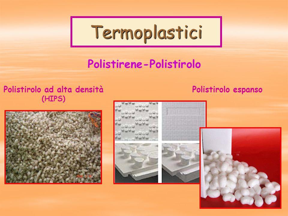 Termoplastici Polistirene-Polistirolo Polistirolo ad alta densità (HIPS) Polistirolo espanso