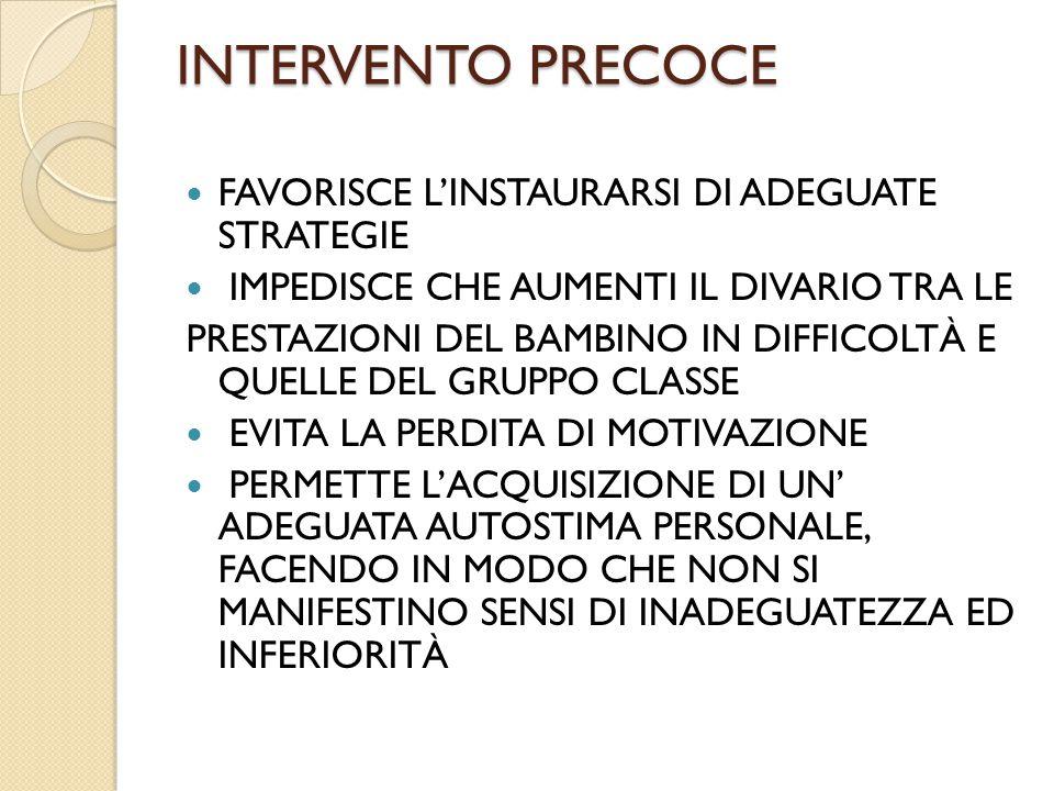 CONDIZIONI DI RISCHIO DI SINDROME DISLESSICA(A 5 ANNI) 7.