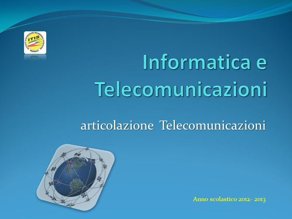 articolazione Telecomunicazioni Anno scolastico 2012- 2013