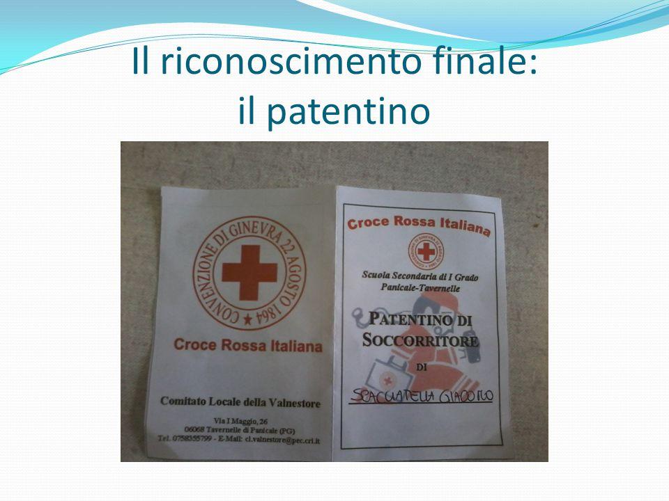 Il riconoscimento finale: il patentino