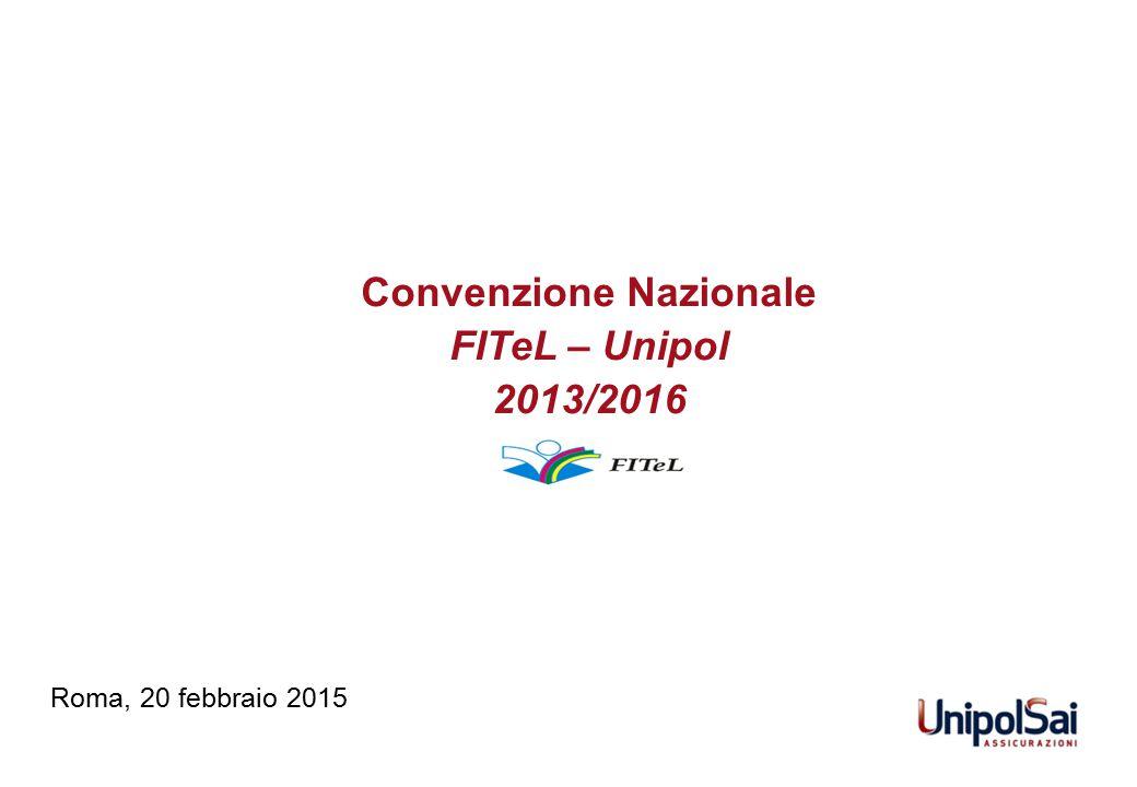 Convenzione Nazionale FITeL – Unipol 2013/2016 Roma, 20 febbraio 2015