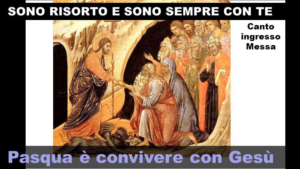 Gesù Risorto è la PAROLA ETERNA che convive con noi .