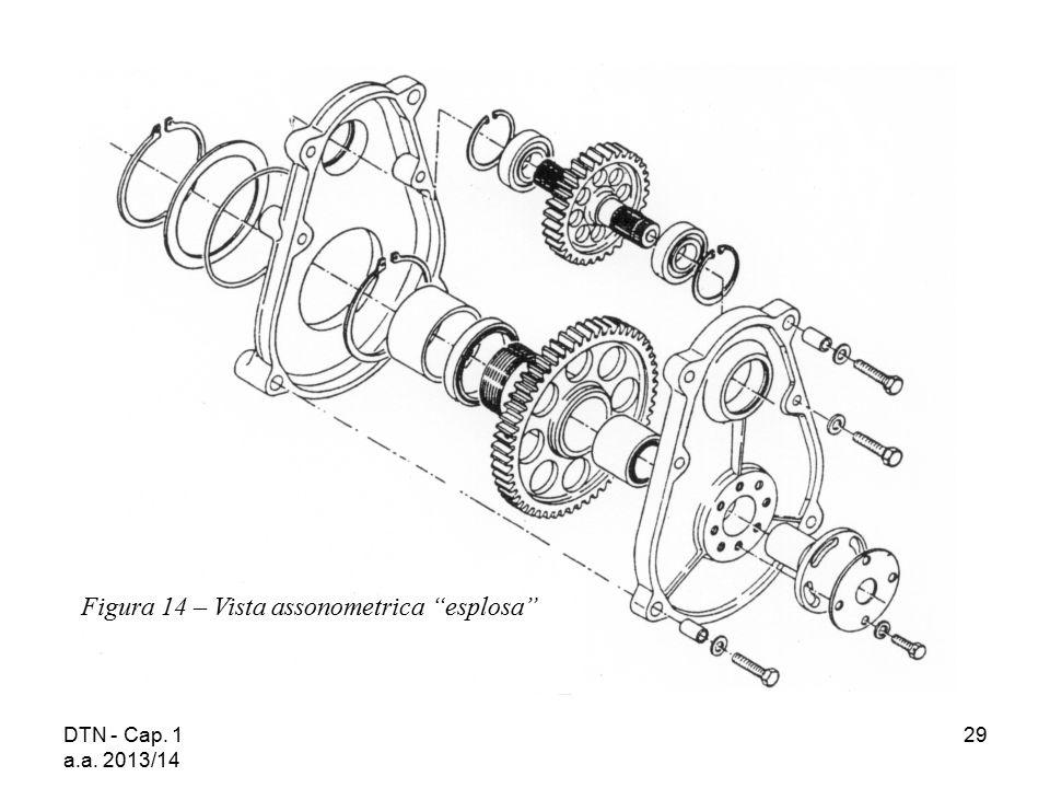 """DTN - Cap. 1 a.a. 2013/14 29 Figura 14 – Vista assonometrica """"esplosa"""""""