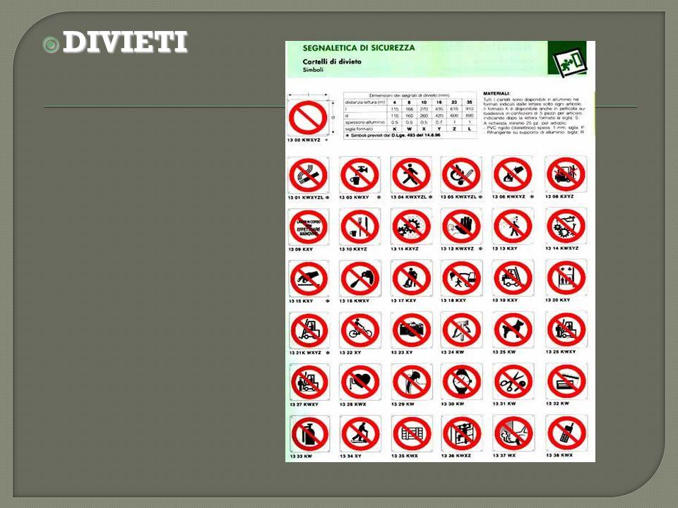 ESEMPI:  Il diritto italiano non prevede la pena di morte.