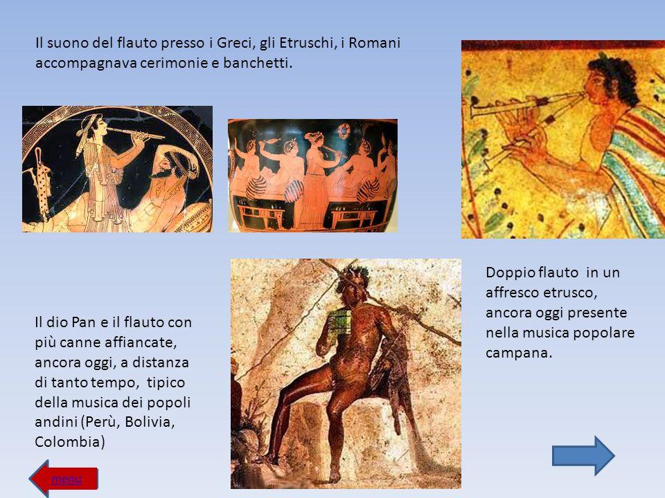 menu MOSAICI ROMANI Musicisti in un dettaglio dal Mosaico di Zliten (II secolo d.C.), originariamente rappresentati mentre accompagnano un combattimento fra gladiatore e rappresentazioni con gli animali feroci nell arena: da sinistra, la tuba, l idraulio (organo ad acqua), e due corni Trio di musicisti che sta suonando da sinistra un aulos, dei cimbali e un timpano (mosaico di Pompei).